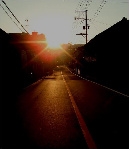 小石原で日没です.JPG